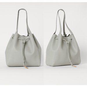NWOT H&M Light Gray Bucket Bag